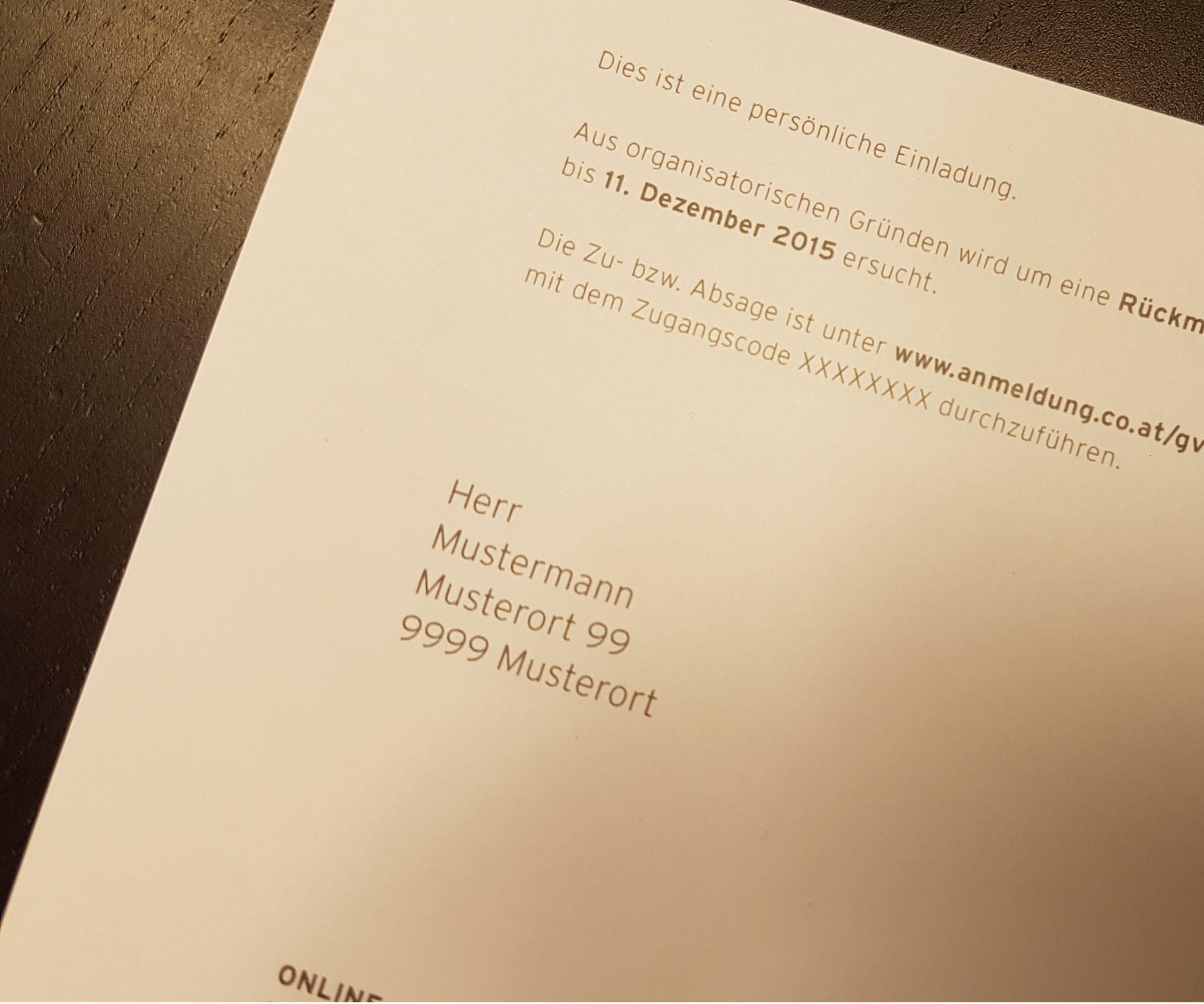 Einladungsdruck